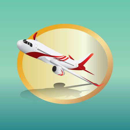 aeroplane Ilustrace