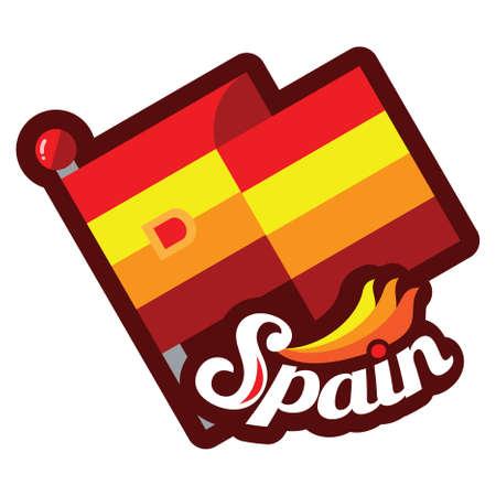spain flag Reklamní fotografie - 81485602