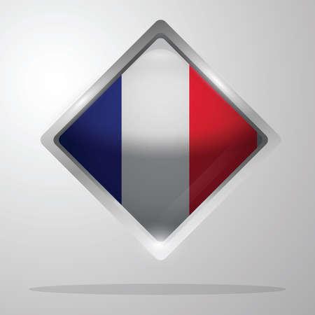 france flag button Illustration
