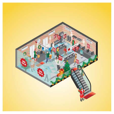 ショッピング モールの等尺性
