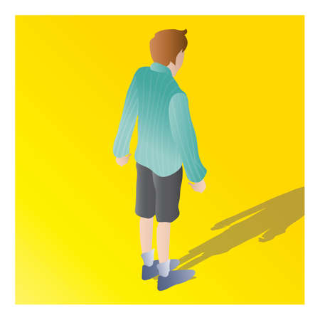 isometric of a boy Illustration