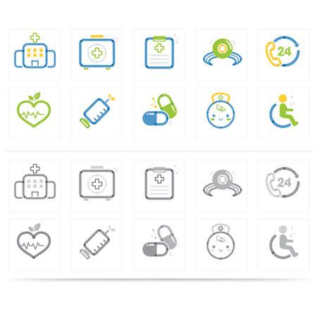 medische icon set Vector Illustratie