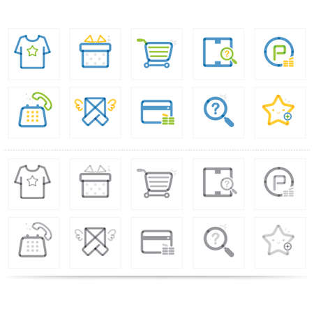 search box: assorted shopping icons