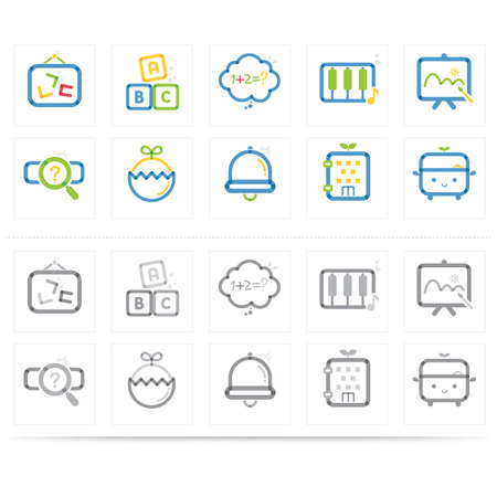 various: various education icons