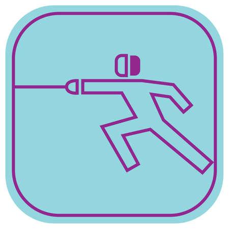 esgrimista: esgrimista en la acción