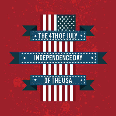 4th: the 4th of july independence day of the usa banner
