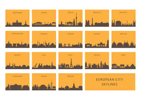 Europese stad skylines
