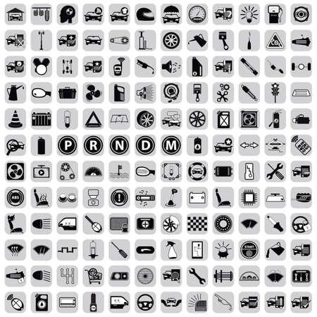 piezas coche: icono de las piezas del coche