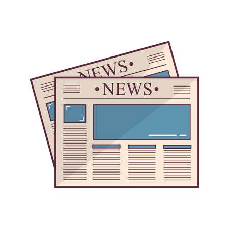 read magazine: newspapers Illustration