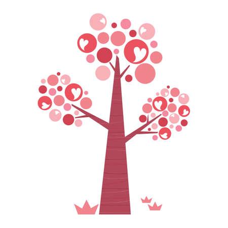 shaped: snowman under a heart shaped tree