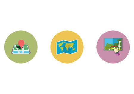 icons: map icons Illustration
