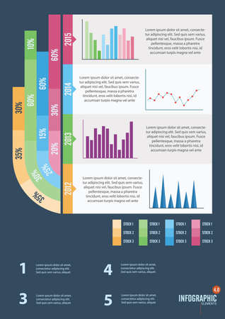 stockmarket chart: infographic template design