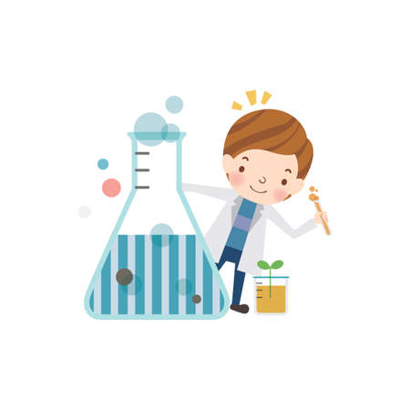 conical: school girl with conical flask