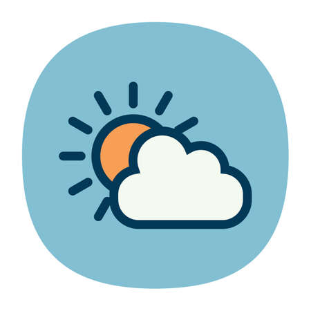 partly: partly cloudy Illustration