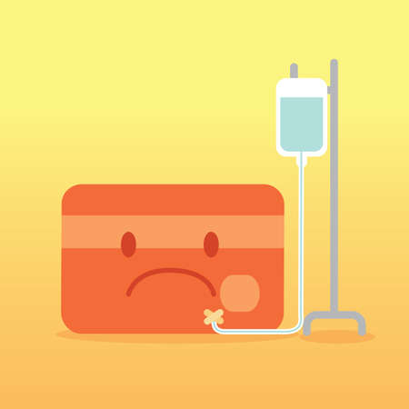 iv drip: atm card with iv drip Illustration