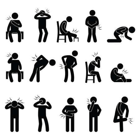 Persone dolore dolori al corpo Archivio Fotografico - 51510487