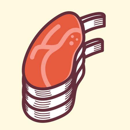 ribs: beef ribs cut