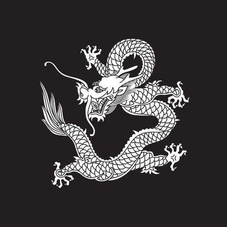 中国のドラゴン  イラスト・ベクター素材
