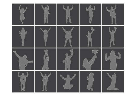 silhouettes: set of silhouettes