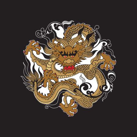 Drago cinese  Archivio Fotografico - 51511326