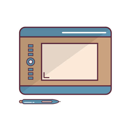 graphic tablet: graphic tablet Illustration