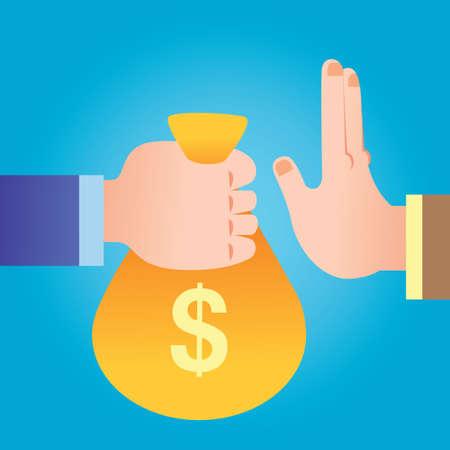 handing over: hand handing over money bag