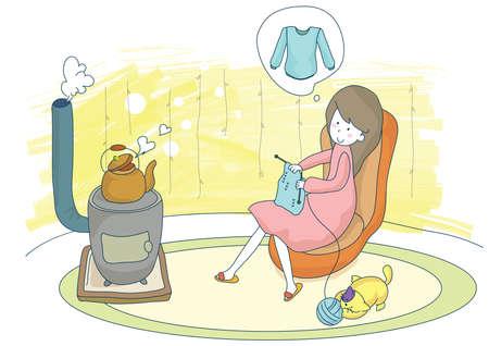 sueter: mujer embarazada su�ter de tejido de punto