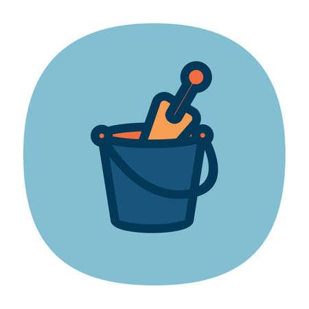 trowel: trowel in bucket