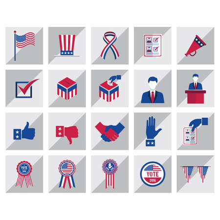 elections: set of elections icons