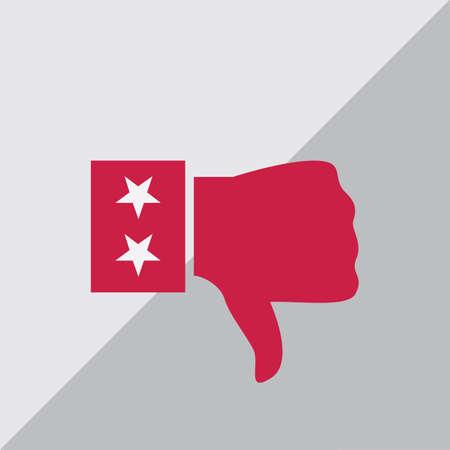 thumb down: thumb down Illustration