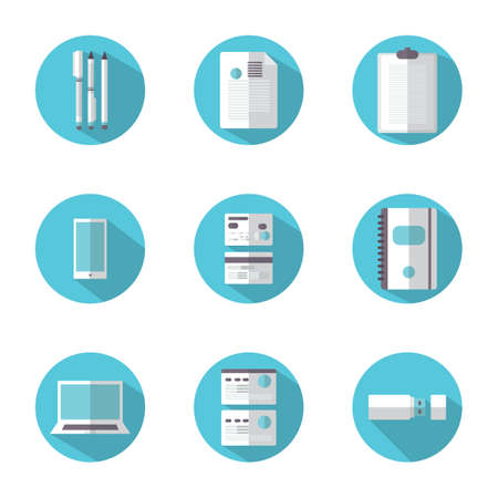 spiral book: set of office icons Illustration