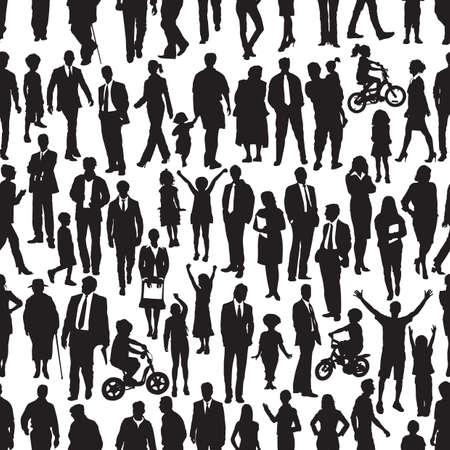 silueta de diferentes tipos de personas