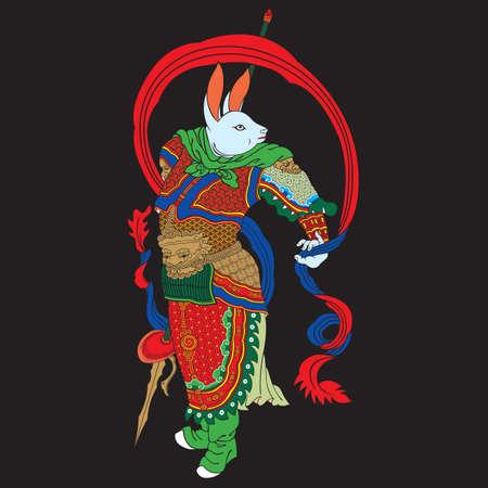 asian bunny: chinese rabbit zodiac