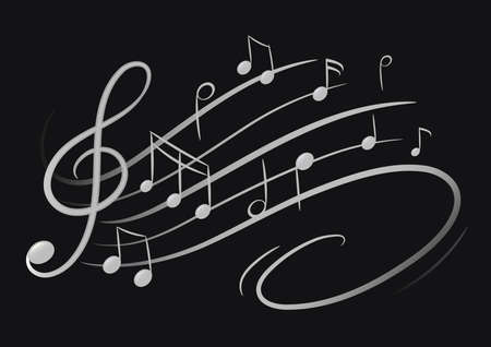 musical notes Stock Illustratie