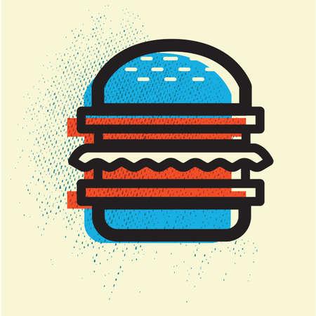 unhealthy eating: hamburger