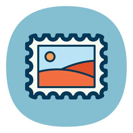postal stamp: postal stamp