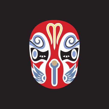 Máscara de la ópera china Foto de archivo - 51517706