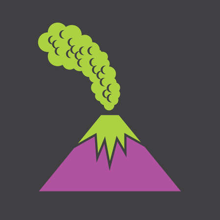 eruption: volcanic eruption Illustration