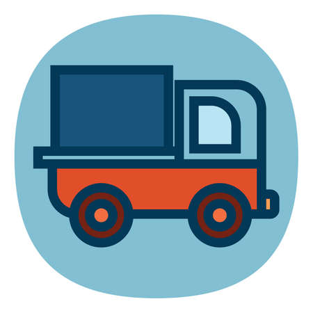 load: truck with load Illustration