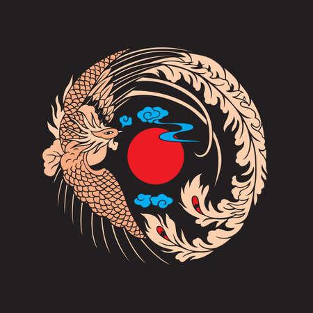 chinese phoenix Vector Illustration