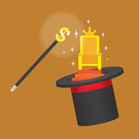 magician hat: king chair in magician hat