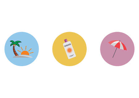 sun protection: sun protection icons