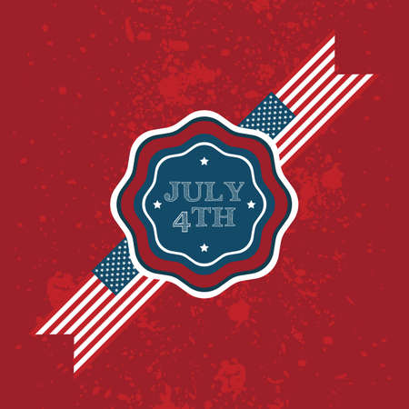 4th: july 4th label