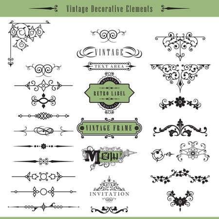 calligraphic design: vintage calligraphic design