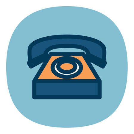 vintage telephone: vintage telephone Illustration