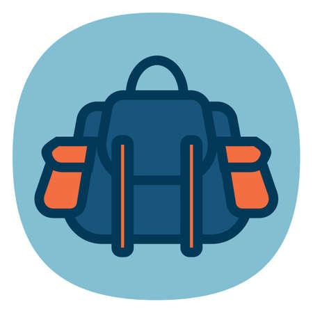 packets: backpack Illustration
