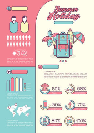 summer holiday: infographic of summer holiday