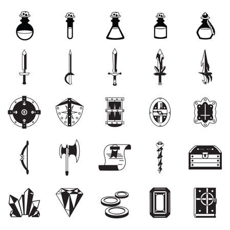 arrow poison: set of fantasy icons