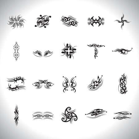 Tatouage conception abstraite ensemble Banque d'images - 51889931