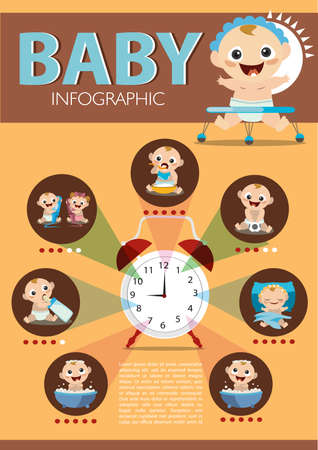 infant bathing: baby infographic